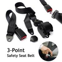 Ceintures de sécurité Accessoires 3 points rétractable voiture auto-verrouillable siège à verrouillage automatique Noir Universal Réglable ceinture camion camion camion fourgon