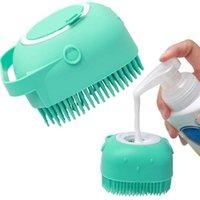 Pet Dog Shampoo Massager Brush Cat Massage Comb Grooming Scrubber Shower Brush for Bathing Short Hair Soft Silicone Brushes