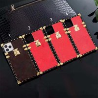 letters L Designer cellphone cases For iphone 13ProMax 12mini 11 XS XR X 8 7Plus Fashion Leather Phone Case Print Design Square Metal LOGO