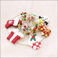 Jewelry Findings & Components Jewelry12Pcs  Set Christmas Wine Glass Charms Party Year Cup Ring Table S Xmas Pendants Decoration Supplies Dr