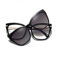 Sunglasses 80329 TR90 Anti-blue Light Spring Leg Glasses Frame Polarized Magnetic Clip Men Women Fashion Computer Eyeglasses