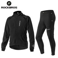 ROCKBROS Men's Cycling Jersey Sets Spring Autumn Breathable Bicycle Jacket Comfortable Thin Unisex Windproof Outdoor Sport Suit