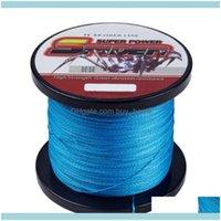 Lignes Sports Sports Sports Strongstrands 500m 6-100lB Ligne de pêche tressée de haute qualité 13 couleurs Disponible Matériau du fil multifilament de Japan Bra