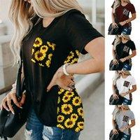 Women Summer T-shirt Crew Neck Short Sleeve Floral T Shirt Leopard Blouse Casual Top Tee S-XXL