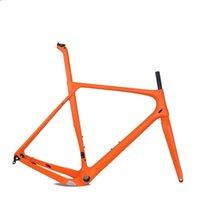 إطارات الدراجة 2021 قرص الفرامل الكربون الحصى الإطار 700C الإطار، di2 cyclocross من خلال المحور 142mm