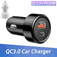QC3.0 Car Charger 38W PD Fast Chargers Dual USB Ports High Speed Charge Adapter for iPhone 13 Pro Max 12 11 8 Plus Samsung S21