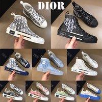 Classic قماش مان أحذية رجالي حذاء نسائي عارضة الأزياء سنيكرز B23 ارتفاع منخفض منحرف الجلود النحل الدانتيل يصل الأبيض إمرأة فاخر