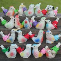 Creativo acqua uccello fischio argilla uccelli ceramica smaltata canzone cinguetti da bagno bambini giocattoli giocattoli regalo festa di Natale