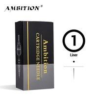 Ambition PMU Tattoo Cartridge Aghi 20pcs Liner rotondo Lungo Taper 1001RL 0801RL 0803RL 0805RL 0807RL 0805RL 0807RL 1RL 3RL 5RL 7RL 9RL 11RL 210323