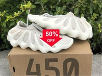 2021 Otantik 450 Bulut Beyaz H68038 Açık Ayakkabı Erkek Koyu Kayrak Bulut-Siyah KANYE Batı Dalga Koşucu Sneakers Orijinal Kutusu 36 -47