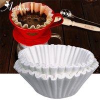 Arshen 50pcs / set Filtros de café blanco Papel de porción para la máquina de café 24 cm Filtro blanco Papel Pastel de Pastel de Papel de Café Bowl