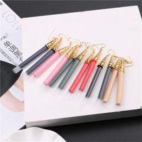 Boho Crystal Dangle Long Tassel Drop Earrings 여성을위한 민족 형상 장미 꽃 표지판 문 귀걸이 패션 쥬얼리 DWD7007