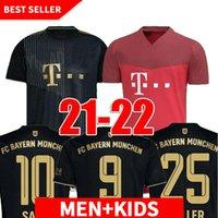 21 22 Bayern Fussball Jersey-Spieler-Version München Lewandowski Sane 2021 2022 Fußball-Hemd Hernandez Goretzka Gnabry Camisa de Futebol Thailand Männer Kids Kits