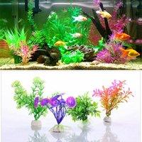 Decorations High Simulation Artificial Plant Aquarium Landscape Decor Grass Fish Tank Animals Box Ornament Home Decorative Flowers