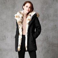 Women's Down & Parkas 2021 Winter Unisex Jackets Detachable Fur Collar Hooded Coat Warm Outwear Real Raccoon Hood Women Men Thick Coa