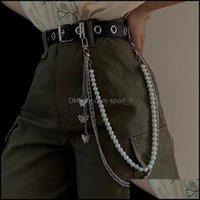 Other Aessories Fashion Aessoriespunk Rock Butterfly Pearls Dress Waist Men Women Key Chain Chic Wallet Keychain Jeans Unisex Hip Hop Jewelr