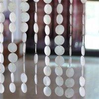 Занавесы натуральные раковины, занавески без загрязнений Занавески крытый раздел декоративный ветер Chimes шторы для украшения гостиницы дверные занавески 769 R2