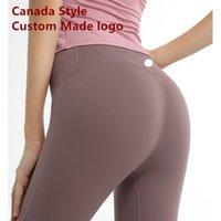 Femmes Colors Canda Leggings Sports Gym Fabric Professional Align Good Leggings Style 20 Fitness Yoga Jogging Sport Lnggx