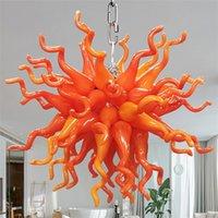 Modern Industrial Chandeliers Lamps Crystal Hand Blown Glass Murano Chandelier Home Decor Hanging Interior Lighting