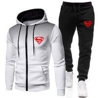2021 Mens Primavera e Autunno Suit Zipper Giacca con cappuccio + Pantaloni Due Sports Sports SportsSwear Mens Sportswear Abbigliamento abbigliamento abbigliamento sportivo