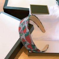 Lüks Tasarımcılar Straberry Headband Bayan İpek Bantlar Yüksek Kaliteli Markalı Çilek Tasarım Saç Bantları Kafa ASF