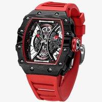 Tasarımcı Lüks Marka Saatler Feice Iskelet Otomatik Mekanik ES Erkekler için Yaratıcı Moda Spor Su Geçirmez Saat FM602N