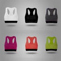 Pembe Renk Kadın Spor Sütyen Seksi Push Up Tank Yelek Spor Bralette Tasarımcı Iç Çamaşırı Yoga Spor Yelek Darbeye Sütyen Marka Tops H38Ni7m