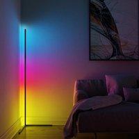 Telecomando Lampada da terra RGB, salotto Semplice lampada ad angolo in atmosfera