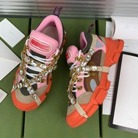 Classic confortable Diamond Daddy Casual Shoes Designer Plate-forme Cuir TrigreCa Sports Fashion Femme Prestige Pourse en plein air