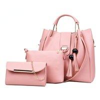 Evening Bags Women Handbags Famous Brands Ladies PU Leather Messenger Fashion 3 Pieces Sets Composite Bag Tassel Tote
