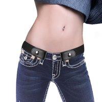 Belts Buckle-Free Canvas Belt For Jean Pants No Buckle Stretch Elastic Waist Women Men Bulge Hassle Bel