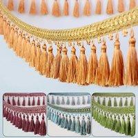 Vorhangvorhänge 1 Meter 12 Farben Sofa Spitze Ribbon Quaste Fransen Trim DIY Perlen Vorhänge Nähende Dekoration Zubehör