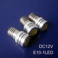 Bulbs High Power 1W 12V E10 Led Lamp,E10 Light ,led Bulb,E10 Instrument Lights 12vdc 100pcs lot