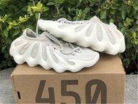 2021 Otantik 450 Bulut Beyaz H68038 Açık Ayakkabı Erkek Koyu Kayrak Bulut-Siyah Kanye Batı Dalga Runner Sneakers Orijinal Kutusu ile 36-47