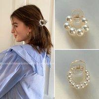 Doce mini rodada pérola pérola clipes garra para mulheres meninas chique barrettes caranguejo hairpins estilo estilo acessórios de moda