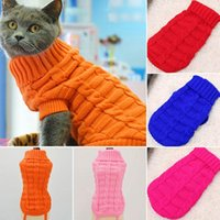 Dog Apparel Clothes For Large Small Dogs Jacket Cat Clothing Pet Sweater Coat Chihuahua Knitted Pure Shirt Vest Costume