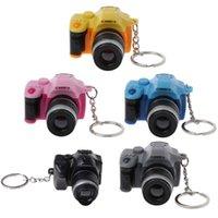Keychains Mini Digital Reflex DSLR Camera LED Flash Light Torch Shutter Sound Keychain