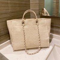 7A Mulheres Luxo Handbags Designer Beach Beach Qualidade Moda Bolsa Do Ombro Grande Tote Com Sacos de Compras de Canvas Cadeia