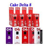 Cake Delta 8 Disposable E cigarettes Device full gram (1ml) Capacity Empty pod Rechargable Vape Pen 280mAh Battery For thick oil VS PUFF PLUS XXL AIR BAR BANG 2IN1