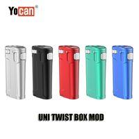 Оригинальный yocan Uni Twist Box Mod 650 мАч Батарея Портативный Vavorizer VV Переменная Volta Регулируемая высота и диаметр Установите весь распылитель подлинного