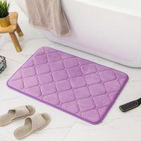 Coral Fleece Memory Foam Bath Mat Woven Pattern Bathroom Horizontal Stripe Carpet Non-slip 80x120cm 1pc Mats
