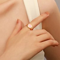 Korea Geometric Heart Model Rings Women Alloy Wide Side Love Finger Ring Valentine's Day Gift Party Hand Jewelry Accessories Wholesale