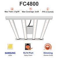 CrxSunny FC4800 Full Spectrum 450W Dimmable Led Grow Light bar With RJ14 Port and Dimmer Knob 4 bars Samsung Lm301b consumption Growing Lamps