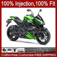 川崎忍者Z-1000 Z 1000 R 2010-2013年Z-1000R Z1000 10 11 12 13 Z1000R 2011年2011年2011年2011年013 OEM BodyWork光沢のある緑色