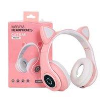 لطيف القط الأذن اللاسلكية B39 القط سماعات BT 5.0 سماعات ستيريو الموسيقى سماعة الألعاب السلكية سماعة يبرد سماعة