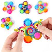 Novidade Fidget Spinner Spinner Toy Sensory Anti Stress Girando Adulto Crianças Engraçado Flip Finger Brinquedos Empurre-o Bubble Pack