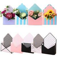 Busta Flower Boxes Bouquet Bouquet Box Box Holds Pieghevole floreale Carta floreale Titolare romantico decorazioni involucro