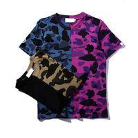 Donne Moda T Shirt da uomo Streetwear Teenager Camouflage Cuciture Casual Summer Tops Unisex Tees Maniche corte
