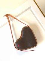 M57456 игра на сумках Coeur Mini Red Heart сумки из кожи женские холст вымотанные поперечины вечерняя сумка сумка сумка кошелек M45149
