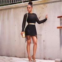 Altın Örgü Bluz Bayan Elbise Uzun Kollu Hollowe Out Gevşek Plaj Rahat Tasarımcı Kadın Kazak Bluz Takım Elbise